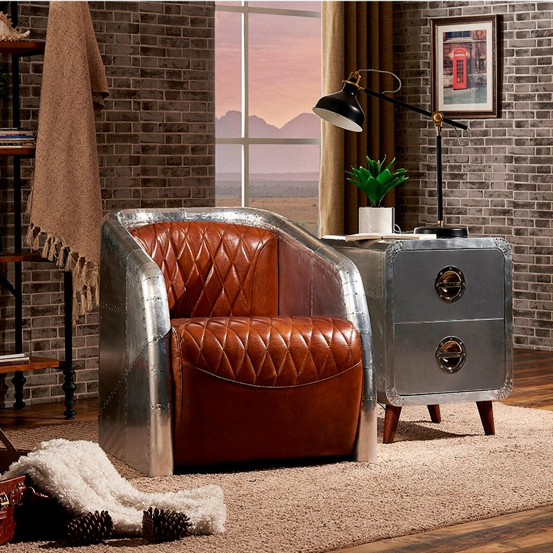 metal modern aviator chair