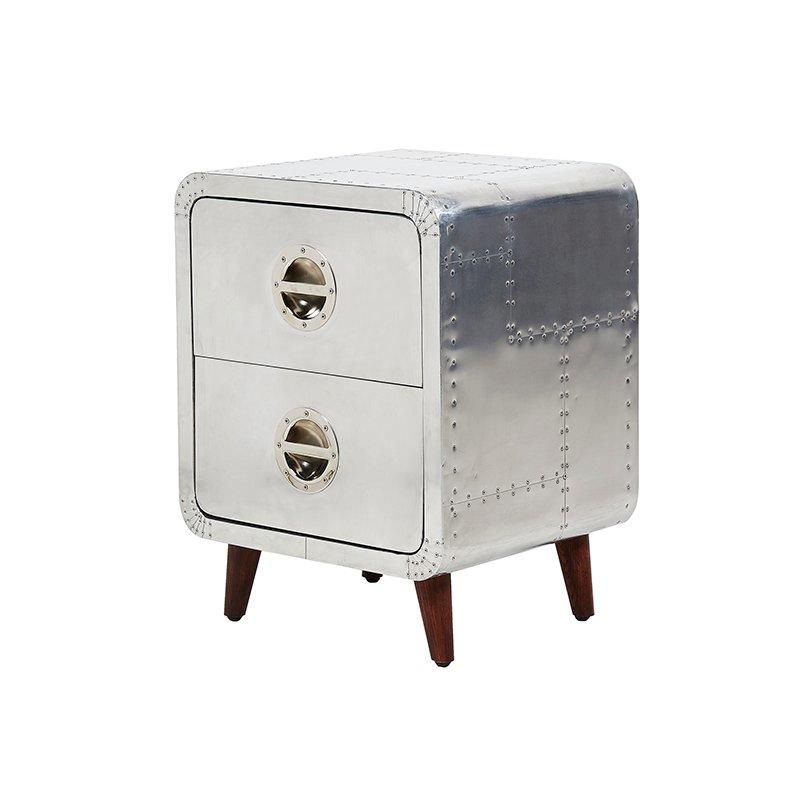Durable and best workmanship aluminium solidwood trunk with drawers