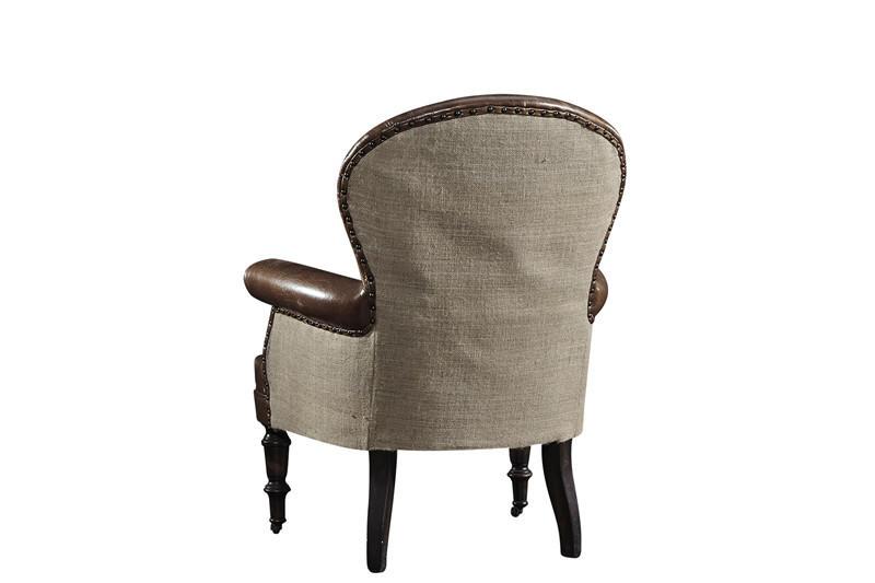 Vintage leather high back armchair