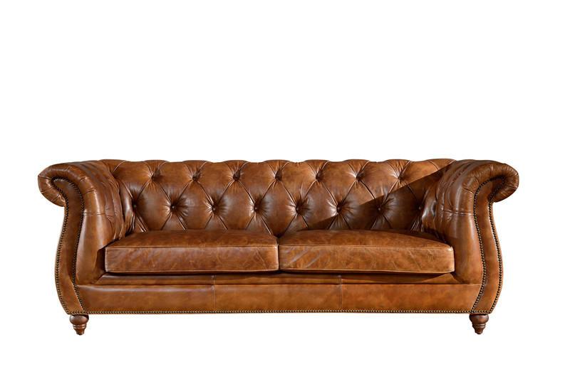 American vintage leather sofa